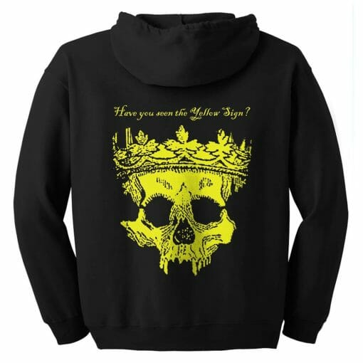 Yellow King Hoodie with Zipper