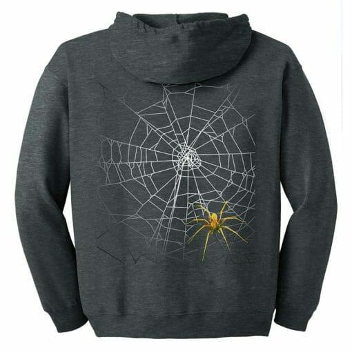 Spider Web Zip Hoodie