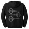 Running with Scissors Zip Hoodie