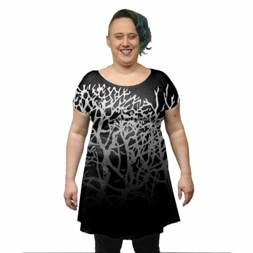 Winter Branches Tunic Dress