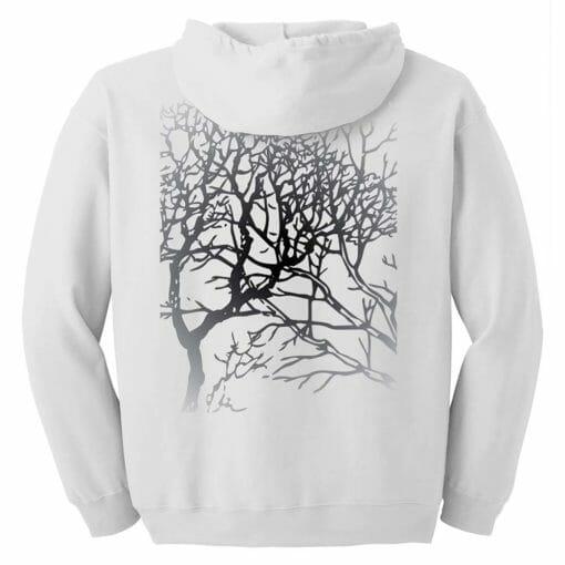 Winter Branches Zip Hoodie