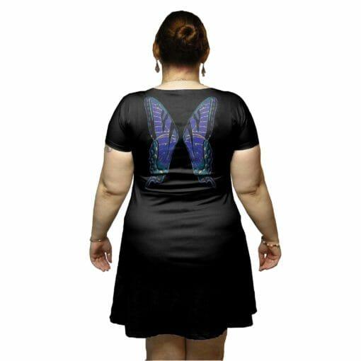 Blue Faerie Wings Tunic Dress