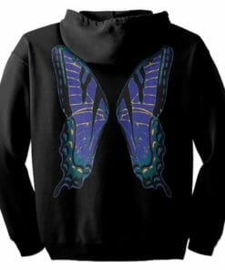 Blue Fairie Wings Zip Hoodie