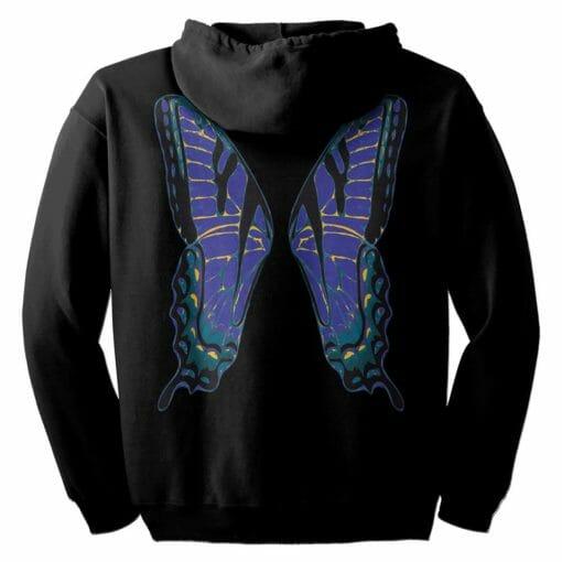 Blue Fairie Wings Zip Hoodie