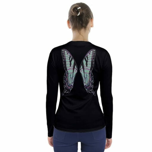 Green Fairy Wing V-Neck Long Sleeve