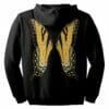 Orange Fairie Wings Zip Hoodie