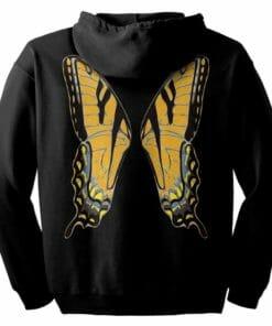 Orange Fairie Wings Zip Hoodie