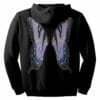 Purple Fairie Wings Zip Hoodie