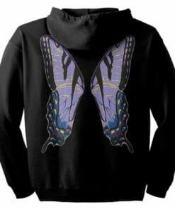 Purple Fairie Wings Zip Hoodie