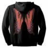 Red Fairie Wings Zip Hoodie