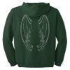 Green Dragon Wing Zip Hoodie