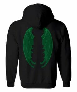 Green Dragon Wing Zip Hoodie