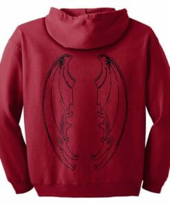 Red Dragon Wing Zip Hoodie
