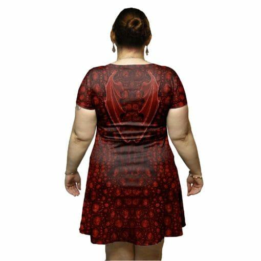 Red Dragon Tunic Dress