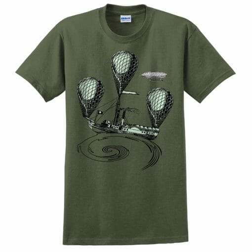 Steam Powered Air Ship Tee