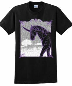 Black as Pitch Unicorn Tee